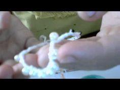 pulseira de croche com miçangas