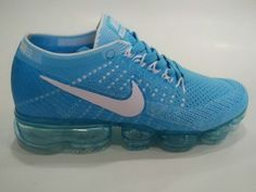 outlet store 5b7b8 e71e4 Cheap Nike Flyknit Air VaporMax 2018 blue grey For Sale White Casual Shoes,  Grey Shoes