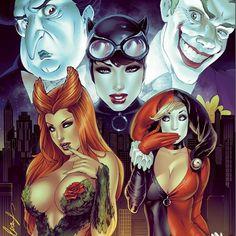 regram @eliaschatzoudis #gothamvillains #thepenguin #joker #catwoman #poisonivy #harleyquinn #batman #eliaschatzoudis #moregreatart