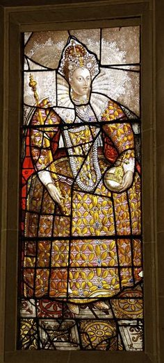 Sudeley Castle, Queen Elizabeth I window--The Castle was once home to Queen Katherine Parr, the last and surviving wife of King Henry VIII. Henry himself, Anne Boleyn, Lady Jane Grey, Queen Elizabeth 1 and Richard III have all played a part in Sudeley's story.