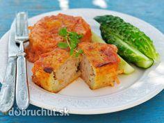 Karbonátky s údeným mäsom a zemiakmi