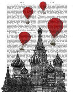 St. Basils Cathedral & Vintage Hot Air Balloons (FabFanky)