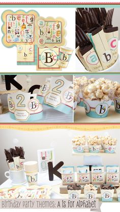 Birthday Party Ideas - A is for Alphabet Birthday Party Theme | Animal Birthday Party Ideas