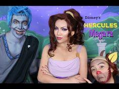 Disney's Hercules 'MEGARA' Makeup Tutorial - YouTube