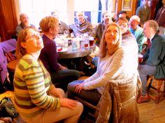 Lesley and Kay loving  Everton v L'pool.