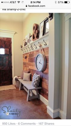 Great seating and storage idea for the kiddos in the Mud Room.