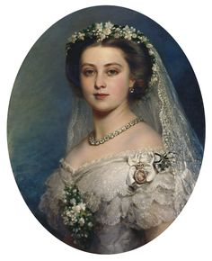 Victoria, Princess Royal This is a copy by Frank Reynolds of Winterhalter's portrait of the Princess Royal, at her wedding in 1858 Queen Victoria Family, Queen Victoria Prince Albert, Victoria And Albert, Princess Victoria, Queen Victoria Young, Queen Victoria Wedding Dress, Victoria Art, Victoria Reign, Victoria Dress