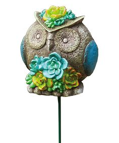 Love this Owl Plant Pick by Evergreen on #zulily! #zulilyfinds