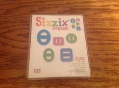 Sizzix Red Die Originals Charms Buckles Never Used   eBay