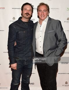 Actor Scoot McNairy (L) and RAND Luxury President and CEO Bradford Rand attend the Mosaic reception at the RAND Luxury Lounge during 2017 Sundance Film Festival at The St. Regis Deer Valley on January 22, 2017 in Park City, Utah.