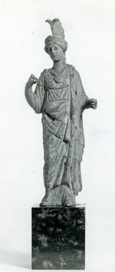 Minerva (Athena), Roman statuette (bronze), 1st century AD, (British Museum, London).