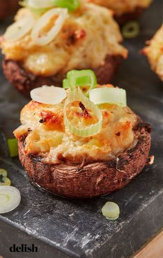 loves a good stuffed mushroom. Get the recipe from .Everyone loves a good stuffed mushroom. Get the recipe from . Best Thanksgiving Appetizers, Appetizers For Party, Appetizer Recipes, Christmas Appetizers, Thanksgiving Turkey, Dinner Recipes, Meat Appetizers, Christmas Snacks, Appetizer Dips
