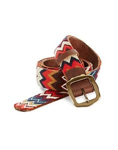 Chevron Embroidered Belt - American Dreamer - Lucky Brand Jeans