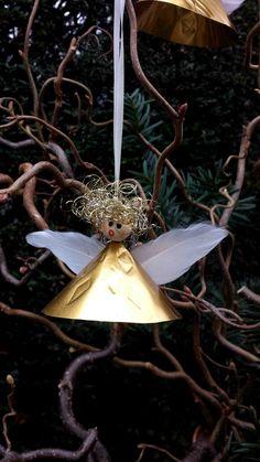 How to make these cute little angels is on my blog idimin.berlin #diy #selfmade #tutorial #doityourself #handmade #crafting #crafts #basteln #Engel #angel #Weihnachten #Christmas #Baumschmuck #Weihnachtsschmuck #Christmasdecoration