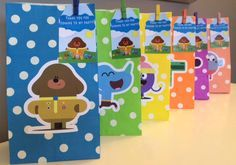 Hey Duggee Personalised Birthday Party Treat Favour Paper Bags