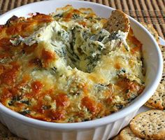 Hot spinish and artichoke dip