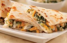 Mini Spinach & Artichoke Quesadillas