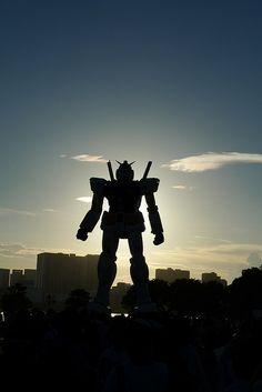 Life size Gundam in Odaiba, Tokyo, Japan