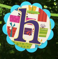 Happy Birthday Banner  READY TO SHIP  blue by APaperPlayground, $19.50