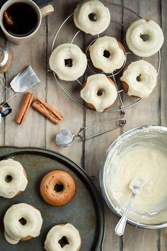 Baked Chai Latte Doughnuts and Vanilla Bean Icing