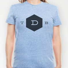 Official TDB logo T-shirt in various colors - $18 - http://society6.com/thedsgnblog/Official-TDB-logo_T-shirt#
