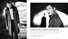 // UNDERCOVER AGENTS // Photographer: Agata Stoinska // Stylist: Tanya Grimson // Models: Cahoime and Chun - Distinct Model Management // Hair & Make-up: Hayley McGowan    AS SEEN ON http://www.maven46.com/editorials/undercover-agents/editorial/