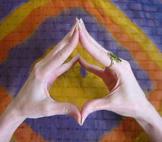 Hakini Mudra     Rememberance Mudra.       The Hakini mudra helps thinking and concentration. Powers the brain. How to form the Hakini mudra: Hands and fingers are open and spread apart. Join hands together at the thumbs and fingertips.