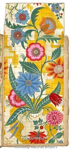 Textile design, by James Leman. Spitalfields, London, England, early 18th century