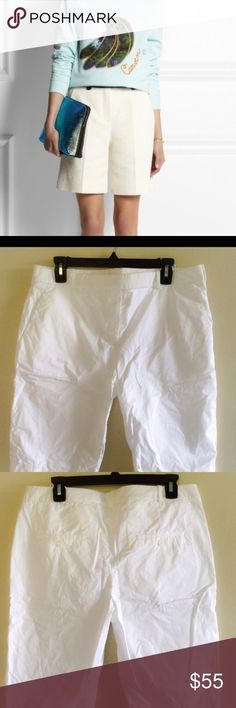 Carven white Bermuda shorts Sz 8 White cotton Bermuda shorts Sz 8 Carven Shorts Bermudas