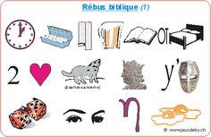 Jeu : rébus bibliques sur le thème des béatitudes Image Jesus, Les Themes, Midi, Sunday School, Montessori, Religion, Club, Deco, Cards