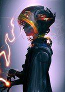 Space Pirate by Viviphyd on DeviantArt cyberpunk woman character retro futuristic concept art character design illustration Character Inspiration, Character Art, Character Concept, Concept Art, Arte Sci Fi, Sci Fi Art, Anime In, Anime Meme, Anime Winter