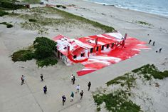 MoMA PS1 presents Rockaway, a special outdoor exhibit by artist Katharina Grosse,