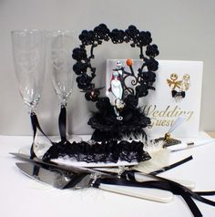 nightmare before christmas wedding ideas   See the small card with the code on it? The seller printed that out ...