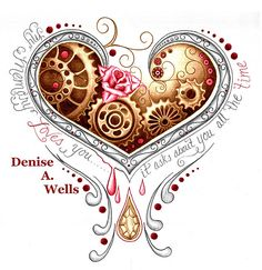 Memory Heart tattoo design by Denise A. Wells  If you are interested in having me make you a custom tattoo design, you can contact me at deniseawells40@gmail.com or  denyceangel_40@yahoo.com to get a Price Quote.