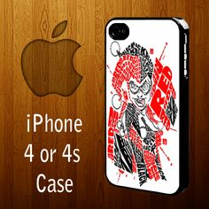 B1174 Batman joker harley quinn typography art Iphone 4 or 4s Case | statusisasi - Accessories on ArtFire