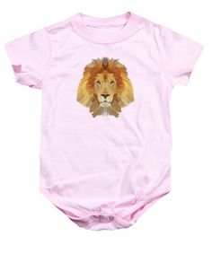 Low Poly Lion - Baby Onesie
