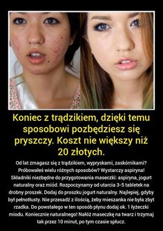 Znalezione obrazy dla zapytania trądzik zaskórnikowy Beauty Care, Diy Beauty, Beauty Skin, Health And Beauty, Beauty Hacks, Face Care, Body Care, Cosmetic Treatments, Tips Belleza