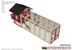 home garden plans: L102 - Chicken Coop Plans Construction - Chicken Coop Design - How To Build A Chicken Coop