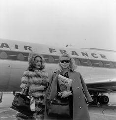 Catherine Deneuve and Françoise Dorléac,1960's