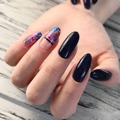 Top 40 Transfer Foil Nail Art 2018 Nail Art Transfer nail Foil art in 2020 Foil Nail Art, Foil Nails, Foil Art, Black Nail Art, Black Nails, Hair And Nails, My Nails, Nail Photos, Trendy Nail Art
