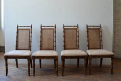 Vintage set of 4 american of martinsville dining chairs