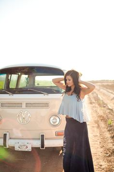 VW Bus, Boho Senior Session // Gabriela Lim Photography