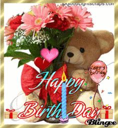 Flower And Bear Happy Birthday Gif quotes happy birthday birthday quotes happy birthday gif birthday images daily birthday quotes Happy Birthday Gif Images, Happy Birthday Wishes Cake, Happy Birthday Wallpaper, Birthday Wishes Messages, Happy Birthday Flower, Happy Birthday Greetings, Bear Birthday, Happy Images, Birthday Qoutes