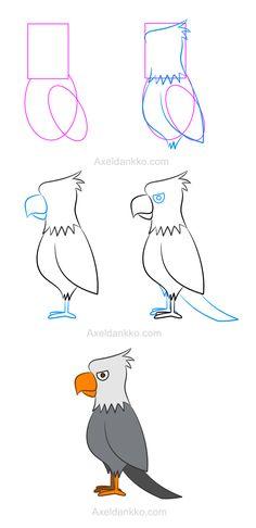 How to draw an eagle - Comment dessiner un aigle