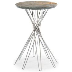 Pick Up Sticks by Caracole. Metal  Base and Stone  Top.
