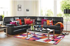 Harvey Norman Toscana 6 Seater Leather Corner Suite