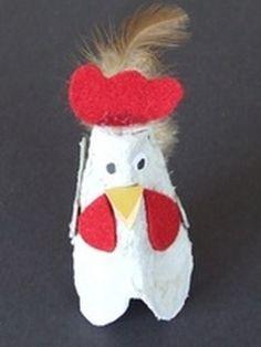 Znalezione obrazy dla zapytania kura z wytłaczanek szablon