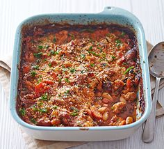 Pork cassoulet: Perfect for using up stray bits and pieces from the fridge, this pork and bean stew is rich, warming and cheap to prepare