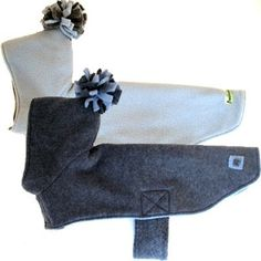 Eco Dog Coat Recycled Gray Sky Blue Fleece by anniessweatshop. I'm going to try to make this...