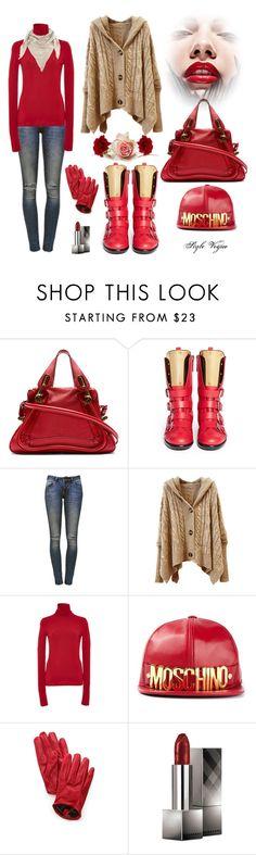 """Casual look charming"" by lamipaz ❤ liked on Polyvore featuring mode, Chloé, Giuseppe Zanotti, Anine Bing, Giambattista Valli, Moschino, Carolina Amato, Burberry, women's clothing et women"